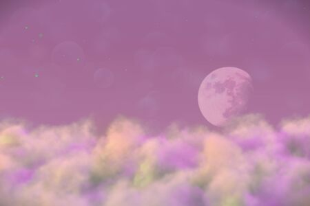 visionary smoke with moon with lights bokeh effect creative abstract background for decoration purposes