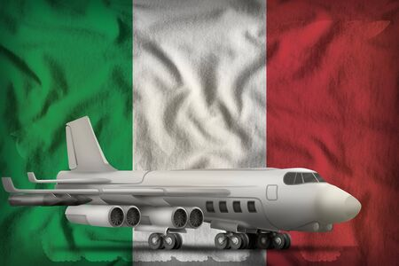 bomber on the Italy flag background. 3d Illustration