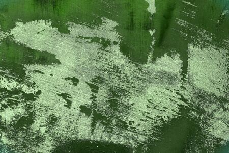pretty green very much dirty wall stucco texture - abstract photo background Фото со стока