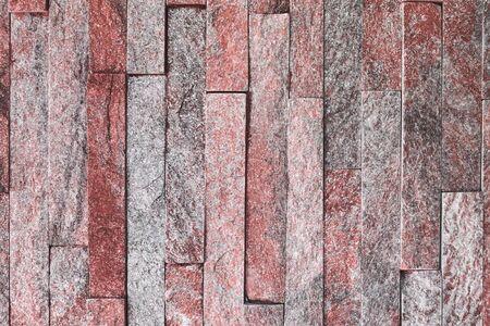 creative vintage red natural quartzite stone bricks texture for any purposes.
