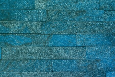 abstract grunge light blue natural quartzite stone bricks texture for any purposes.