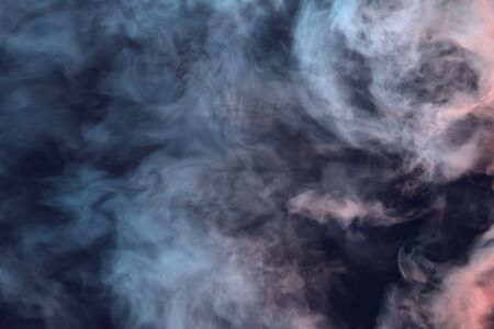Cute dark misty clouds of smoke colorful background or texture - 3D illustration of smoke