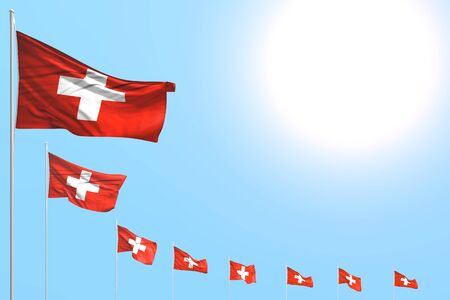 cute any holiday flag 3d illustration