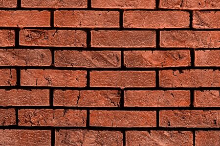 beautiful red vintage dirty brick wall texture - abstract photo background