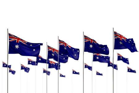 nice Australia isolated flags placed in row with soft focus and place for content - any celebration flag 3d illustration Stock fotó - 135502993