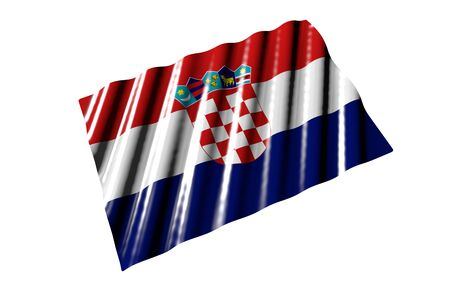 nice any celebration flag 3d illustration