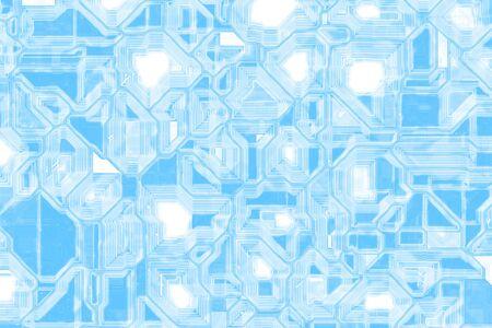 creative light blue techno optic wire template digital art texture illustration Stock fotó