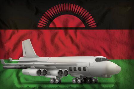 bomber on the Malawi flag background. 3d Illustration