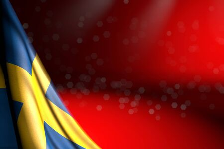 beautiful memorial day flag 3d illustration