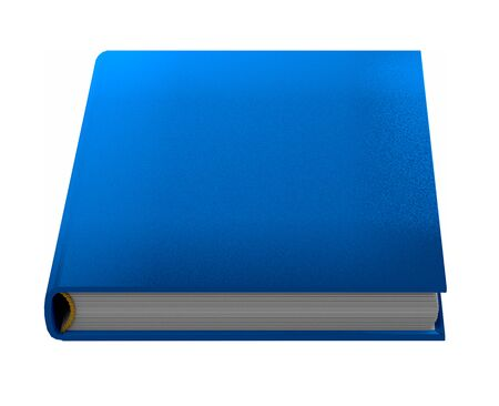 simple very high resolution blue book that is closed, symbol of knowledge isolated on white background, 3d illustration of object