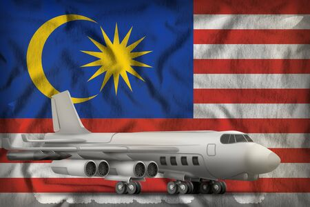 bomber on the Malaysia flag background. 3d Illustration
