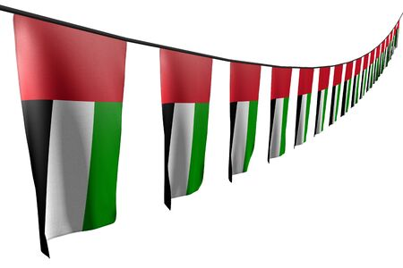 nice national holiday flag 3d illustration