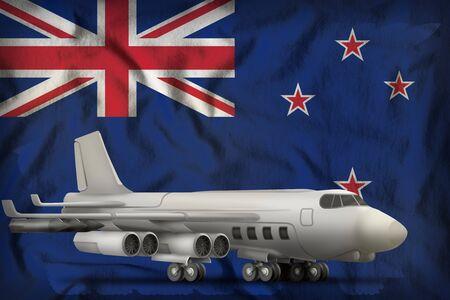 bomber on the New Zealand flag background. 3d Illustration