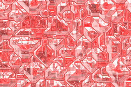 creative red digital crystals pattern digital drawn backdrop illustration