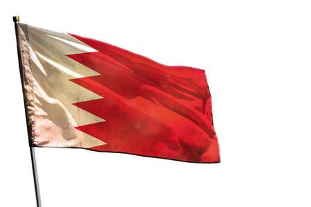 Fluttering Bahrain flag isolated on white background. Stock fotó
