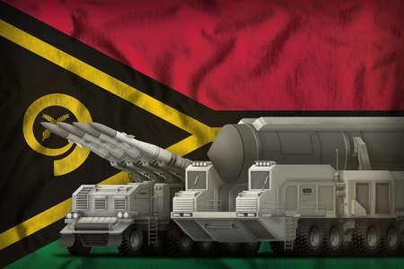 rocket forces on the Vanuatu flag background. Vanuatu rocket forces concept. 3d Illustration Banque d'images