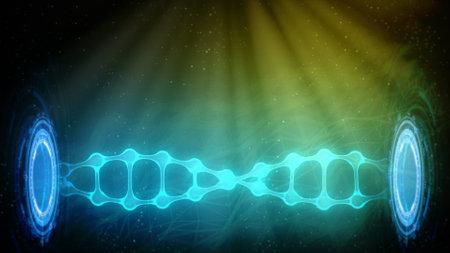 dna-molecule 3d renders in low half, cg medical 3D illustration