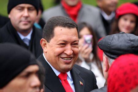 Russland, Moskau, 15oktyabrya2010g.tseremoniya open Grundstein des Denkmal von Simon Bolivar.Venezuelan Pr�sident Hugo Chavez Editorial
