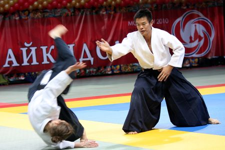 Russia, Moscow, 23 October 2010., international festival of aikido.