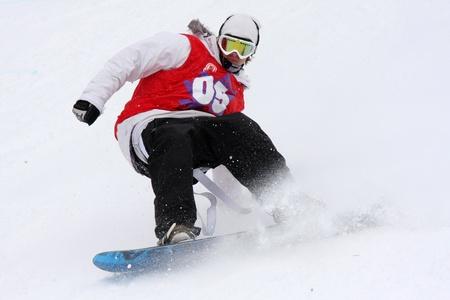 Rossiya.26 March 2011. Sports Complex Volen. Winter stage international games extreme sports Adrenalin Games 2011. Editorial