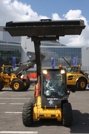 May 31 2011g.rossiya.moskva.IEC Crocus Expo ``. 12th International Specialized Exhibition of `Civil Engineering and Technology 2011 . In the photo: excavator Volvo. Editorial