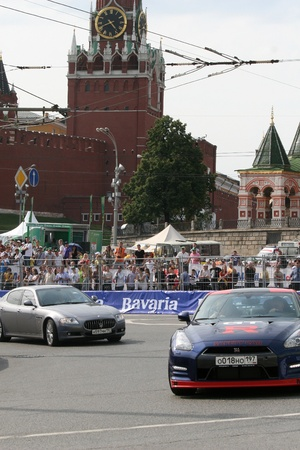 Russia. Moskva.17iyulya 2011. Motorsport show Moscow City Racing.