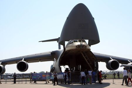 Rossiya.16 August 2011 10th International Aviation and Space Salon MAKS-2011 ``. This photo shows a military transport plane C-5 Galaxy.