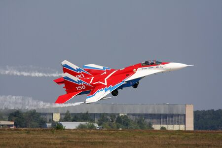 Rossiya.16 August 2011 10th International Aviation and Space Salon MAKS-2011 ``. This photo shows a MiG-29 OVT.