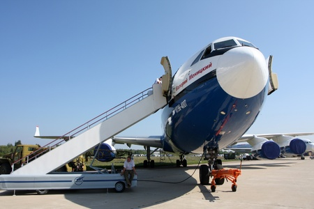 Rossiya.18 August 2011 10-th International Aerospace Show MAKS-2011 ``. This picture shows the IL-96-400T