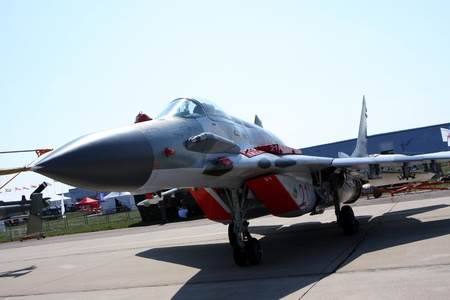Rossiya.18 August 201110th International Aviation and Space Salon MAKS-2011 ``. This photo shows a MiG-29 SMT. Editorial