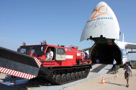 Rossiya.18 August 201110-th International Aerospace MAKS-2011 ``. Auf dem Foto: Ein-124-100. Editorial
