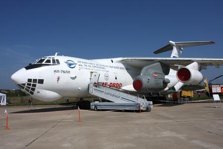 Rossiya.18 August 201110-th International Aerospace MAKS-2011 ``. Auf dem Foto: Il-76LL.