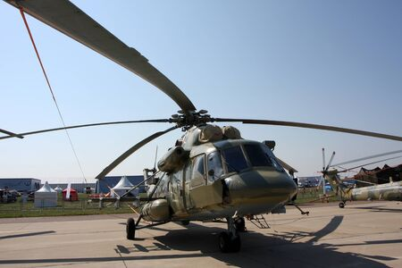 Rossiya.18 August 201110th International Aviation and Space Salon MAKS-2011 ``. This photo shows the helicopter Mi-8. Editorial
