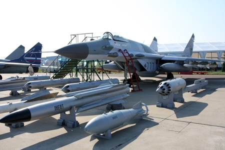 Rossiya.18 August 201110-th International Aerospace Show MAKS-2011 ``. This photo shows a MiG-29 SMT. Editorial