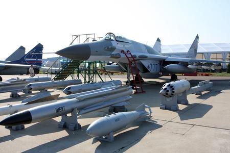 Rossiya.18 August 201110-th International Aerospace Show MAKS-2011 ``. This photo shows a MiG-29 SMT. Editorial
