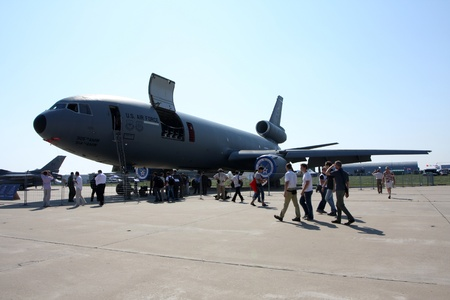 Rossiya.18 August 201110-th International Aerospace Show MAKS-2011 ``. This photo shows a tanker aircraft McDonnell Douglas KC-10.