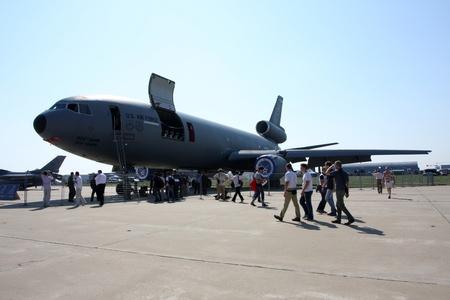 Rossiya.18 August 201110-th International Aerospace Show MAKS-2011 ``. This photo shows a tanker aircraft McDonnell Douglas KC-10.