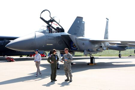 Rossiya.18 August 201110th International Aviation and Space Salon MAKS-2011 ``. This picture shows the F-15 Eagle