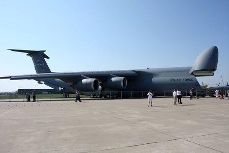 Rossiya.18 August 201110-th International Aerospace Show MAKS-2011 ``. This photo shows a military transport plane C-5 Galaxy.