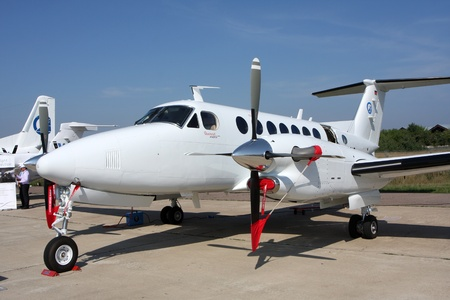 Rossiya.18 August 201110-th International Aerospace Show MAKS-2011 ``. This photo shows the passenger aircraft business class Beechcraft King Air.