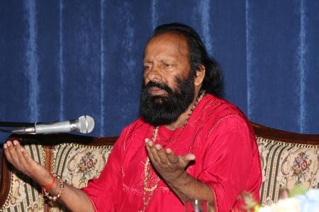 July 18 2012.Indiysky mahayoga Master Pilot Baba Somnath Giri Maharaj at a news conference. Editorial