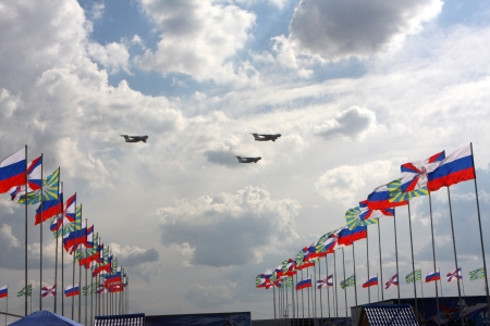 10 August 2012. Russia. Zhukovsky. Festival dedicated to the 100th anniversary of the Air Forces of Russia