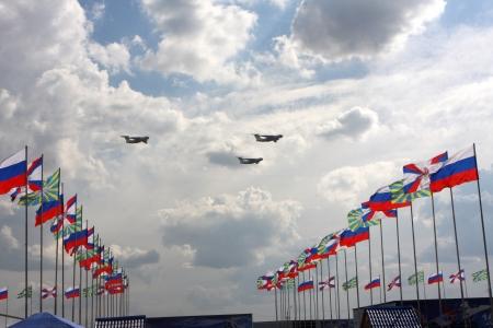 10. August 2012. Russland. Zhukovsky. Festival zum 100. Jahrestag der Air Forces in Russland gewidmet