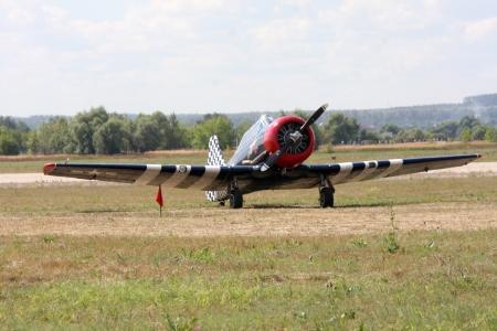 10. August 2012. Russland. Zhukovsky. Festival zum 100. Jahrestag der Air Forces in Russland gewidmet. Auf dem Foto: Oldtimer-Flugzeuge.