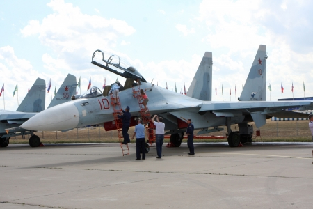 10. August 2012. Russland. Zhukovsky. Festival zum 100. Jahrestag der Air Forces in Russland gewidmet.