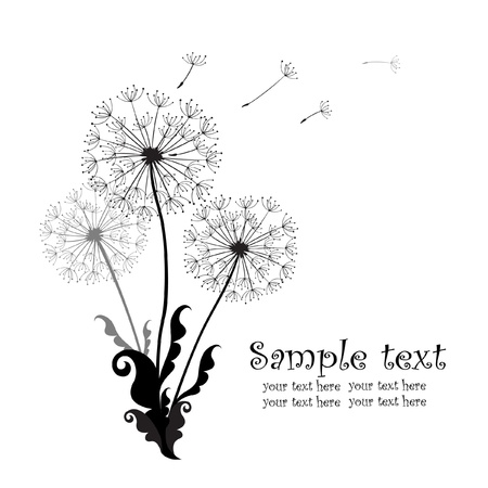 dispersal: Background with dandelions