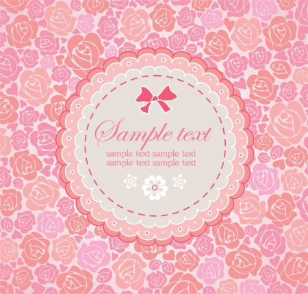 date of birth: Beautiful greeting card with rose