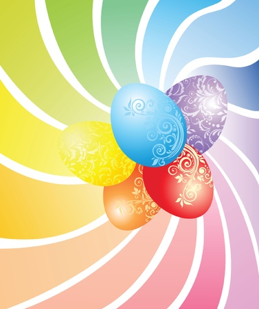 Colorful easter card with painted eggs Stock Vector - 18760739
