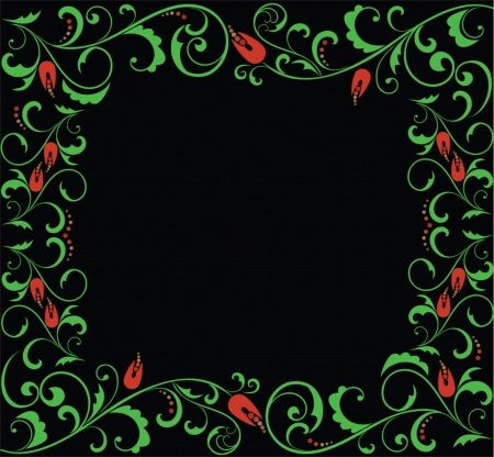 Floral frame. See my gallery for more Stock Vector - 18760786