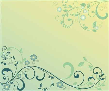 Green floral background. See my gallery for more Stock Vector - 18760803